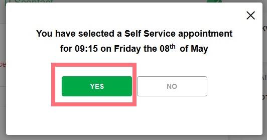 подтверждение даты для подачи на визу в Великобританию